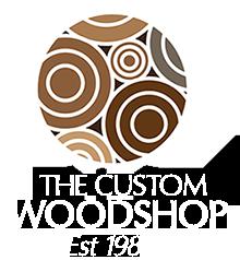 The custom wood shop Logo